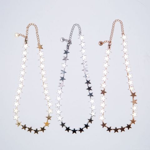 IRIS ROW OF STARS CONSTELLATION NECKLACE SILVER
